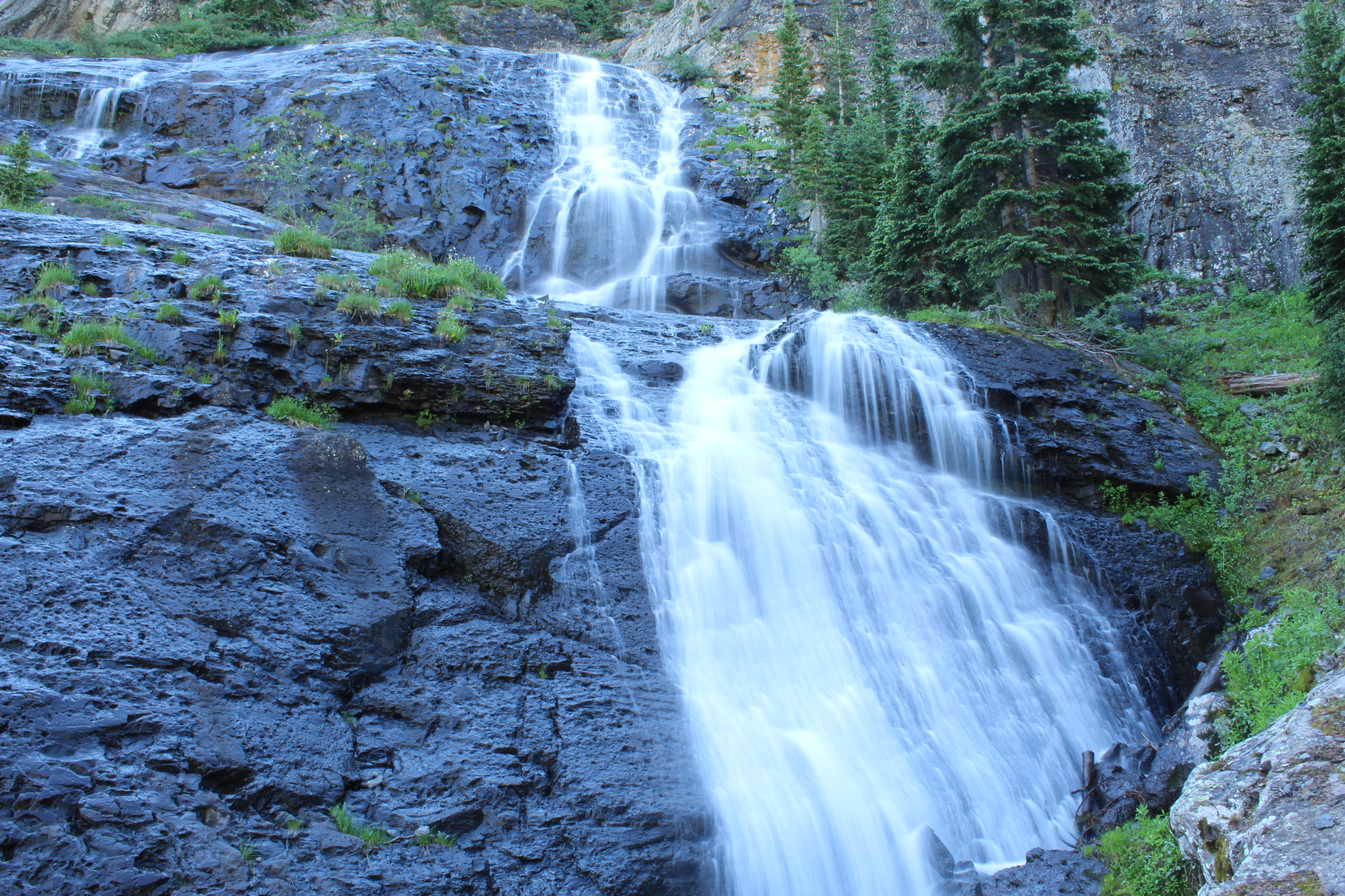 Cascading waterfall near our campsite.