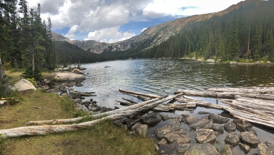 First view of Timberline Lake in August.
